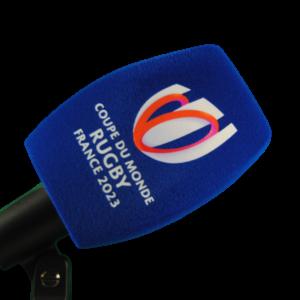 Mousse microphone avec impression logo france